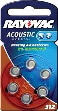 Rayovac Hearing aid batteries 1.4 V 160 mAh 6 pcs RAY-312B