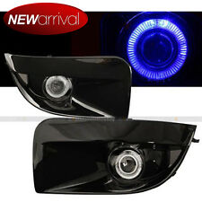 Fit 04 05 Impreza WRX STI Blue Halo Projector Fog Light with Glossy Black Cover