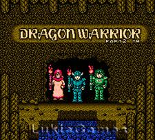 Dragon Warrior II 2 - Rare NES Nintendo Game