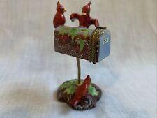Chamart Limoges Cardinal Christmas Trinket Box