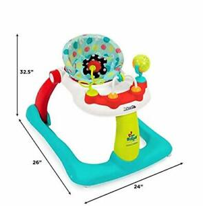Kolcraft Tiny Steps 2-in-1 Infant & Baby Activity Walker - Seated or Walk-Beh...