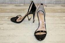 Sam Edelman Ariella Faux Patent Leather Sandals, Women's  7.5M, Black (Damage)