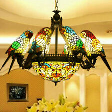 Retro Color Glass Parrot Bedroom Living Room Bar Dining Room table Chandelier