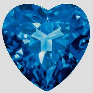 HUGE 21mm (37.75cts) HEART-FACET NATURAL AFRICAN LONDON-BLUE TOPAZ GEMSTONE