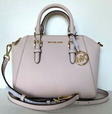 New Michael Kors Ciara Medium Messenger handbag Leather Powder Blush