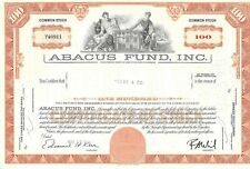ABACUS FUND INC.......1969 COMMON STOCK CERTIFICATE
