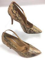 Antonio Melani Women's Snakeskin Print Leather Stiletto Strappy Shoes 6M