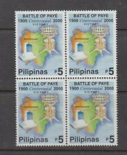Philippine Stamps 2000 Battle of Paye Centennial Block of 4 Complete MNH