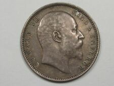 1903 (c) Silver Rupee British-India Coin. King Edward VII.  #9