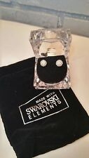 Swarovski Element 8mm Round Crystal Pave Disco Ball Sterling Silver 925 Stem
