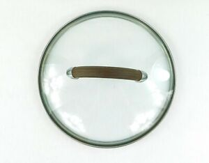 """Replacement USED 10"""" Brown Handled Glass Pot - Lid Only - Very Good Condition!"""