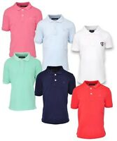 KIDS BASIC PIQUE POLO COTTON SHIRT BOYS GIRLS SHORT SLEEVE TOP CASUAL T- SHIRTS