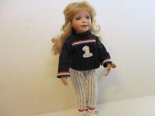 "Baseball Girl Doll ""SAM"" by Phyllis Wright 1999 #3298 EUC"