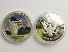1President Barack Obama&Donald Trump Commemorative Coin Make America Great Again