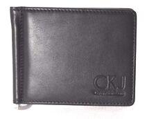 Calvin Klein Wallet Leather Black with money clip