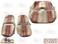 Garnitures siège AVD & AVG symétrique + banquette - NEUVES -Citroen 2cv -12207-