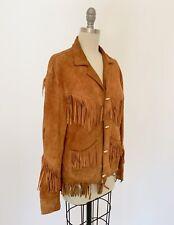New listing Vintage 30s 40s Leather Jacket Fringe Buckskin Deerskin Toggle Western Coat