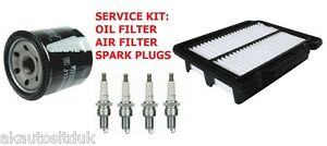 FOR CHEVROLET AVEO 1.2 2008> 3PC SERVICE PARTS OIL AIR & SPARK PLUGS KIT