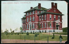 COLUMBIA PA Columbia Hospital Antique 1911 Flag Cancel Postcard Early Old PC