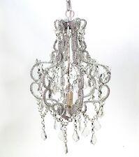 Araña de cristal Cannes blanco claro una llama 32 x 28cm Lámpara De Techo Perlas