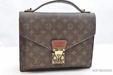 Authentic Louis Vuitton Monogram Monceau Hand Bag Briefcase M51185 LV 37133