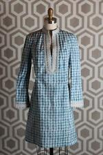 New Tory Burch Tory Graphic Print Mini Dress 2 $350 Blue White Caftan