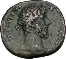 LUCIUS VERUS 163AD Dupondius Big Rare Ancient Roman Coin VICTORY Cult  i46464