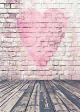 Wooden Floor Backdrops for Studio Vinyl Brick Wall Photography Background 5x7FT