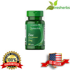 CHELATED ZINC GLUCONATE 25MG COLD FLU RELIEF REMOVE TOXINS SUPPLEMENT 100 TABS