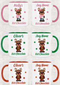 Personalised Christmas Mug Kids Children's Hot Chocolate Two Tone Mug Design