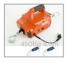 New 450kg 4.6m Traction Block Portable Winch Traction Hoist with 2 Remotes
