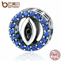 Bamoer New Authentic S925 Sterling Silver Evil eyes Charm with cz fit bracelet