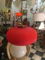LAMPADA A SOSPENSIONE 50s VETRO MURANO GLASS ITALIAN DESIGN RED CHANDELLIER