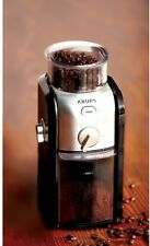 Electric Conical Burr Coffee Grinder Krups 8 oz Enjoy Fresh Coffee Every Morning