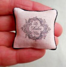 DOLLHOUSE MINIATURE ~ LA DOLCE VITA PILLOW
