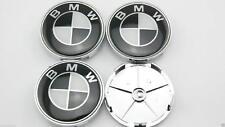 BMW Hub Alloy Wheel Centre Caps.Set of 4. Fit E90 E60 E61 E34 X3 X5 Black 68mm
