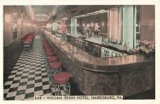 Bar Room at The William Penn Hotel in Harrisburg Pa Old