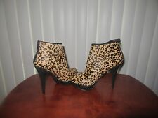 ALDO Women's Leopard Animal Print Platform Stiletto Ankle Boots Size 7.5 / 38