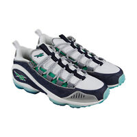 Reebok Dmx Run 10 V44402 Mens White Canvas Casual Lace Up Low Top Sneakers Shoes
