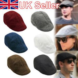 Mens Boys Hat Country Peaky Golf Driving Cabbie Hat Caps Retro Flat Cap Beret S