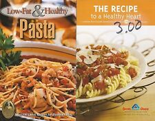 2 Cookbooks: Recipe to a Healthy Heart & Low Fat Healthy Pasta Cooking Recipes