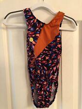 Snowflake Designs Leotard Child Medium - Orange Broken Glass with Scrunchie