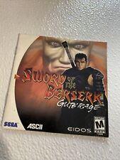 Sword of the Beserk dreamcast manual Only Registration Card