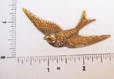 35763        Brass Oxidized Victorian Large Bird Jewelry Stamping