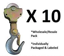 10-pack: 2TON Wire Rope Pulley Block w/  Swivel Eye Hoist Hook Snatch Block