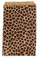 "1000  Leopard Print Merchandise Retail Paper Party Favor Gift Bags 5"" x 7"" Tall"