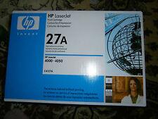 Genuine HP Laserjet 27A Black Toner Print Cartridge C4127A 4000 4050 SEALED