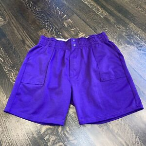 NEW Vtg 80s Coach Shorts Letrell Purple Gym High Waisted Softball 2XL Mens XXL