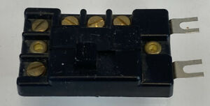 Tyco 590235 HO & N Scale Control Switch With Screws Black Vintage COMPLETE