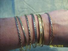 Bangle Bracelets Set Of 7 Vintage Gold Tone 1 Signed Monet